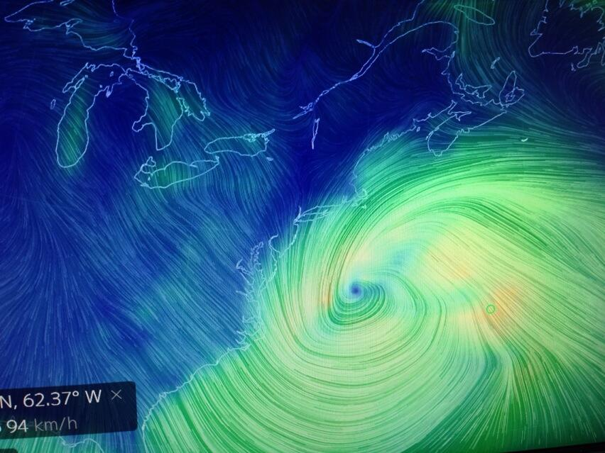 Wind analysis chart from early this morning! Via Kim McDonald