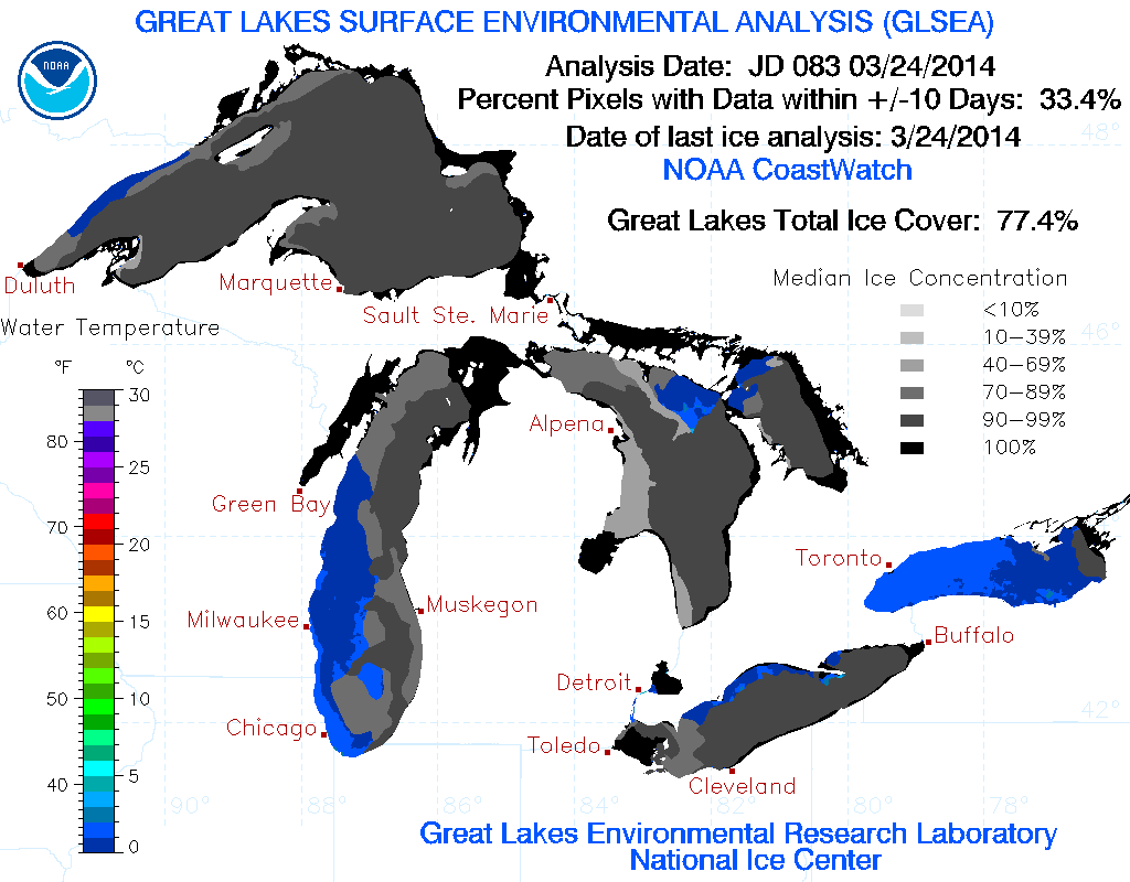 Latest On Snowstorm, Great Lakes Ice, Chilly Spring/Summer Outlook!