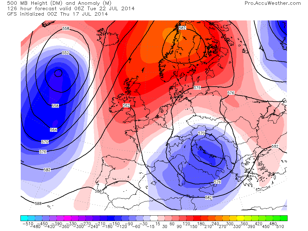 Chart Analysis: Trough/Ridge Work Together To Drive Hottest Air Into UK, Low Countries, Hotter Next Week?