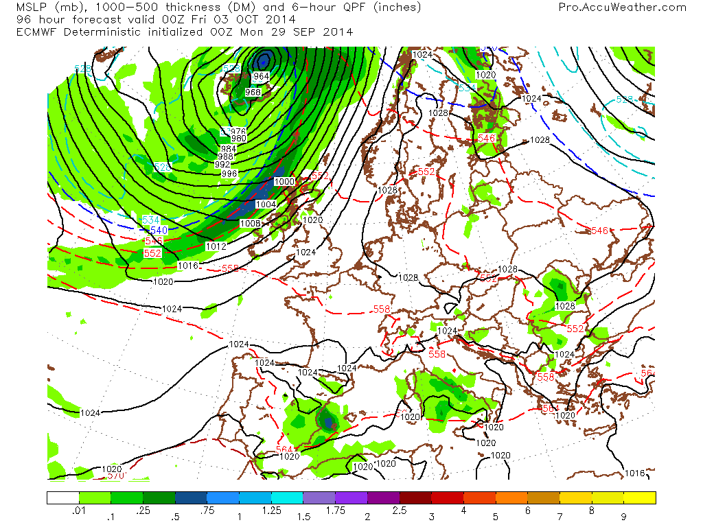 EUROPE: Classic October Weather Is On It's Way