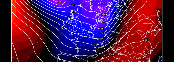 Greenland Discharge Brings 1st Northern UK Snow / 90mph Wind, Blizzards Next Week!