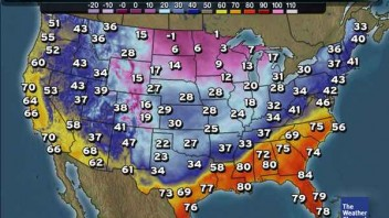 US: Big Temp Clash Today Then Major Snow Then Major Cold…