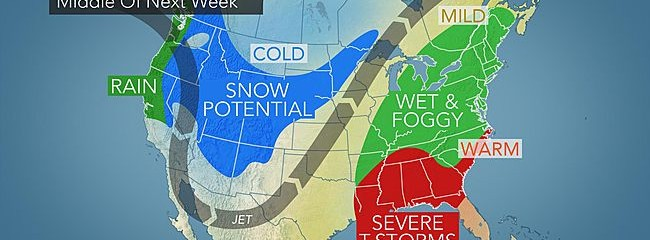 Wet Not White Christmas From Mississippi To East Coast