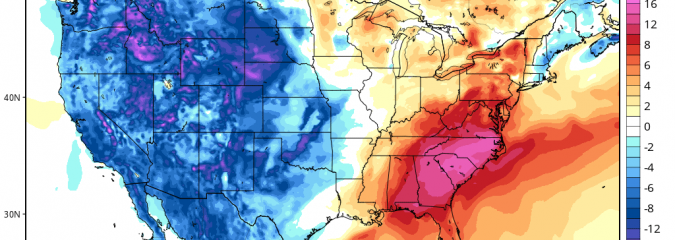Much Colder Pattern Setting In For Start Of 2016 Over Midwest, East