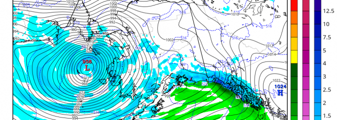 Record Tying Bering Sea Storm To Kick Record Eastern Warmth Into Atlantic This Week