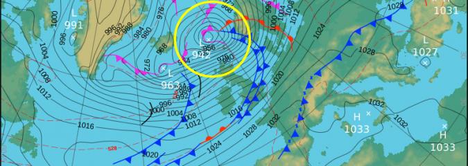 Stormiest Spell Of Winter Sweeps Into Ireland/UK Tonight
