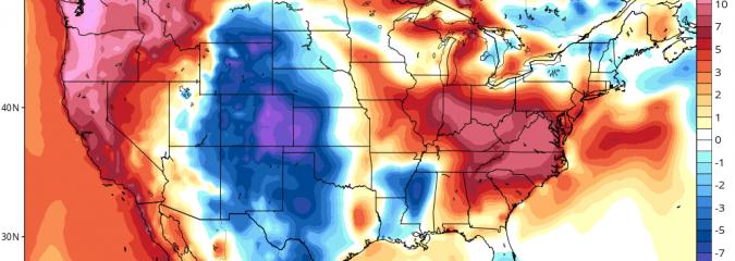 Vast Omega Block Brings Coast To Coast Warmth But Biblical Texas Rain In Between
