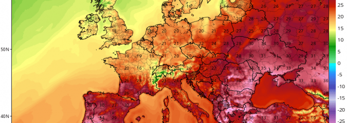 Heat & Storms Continue To Dominate East, Central Europe