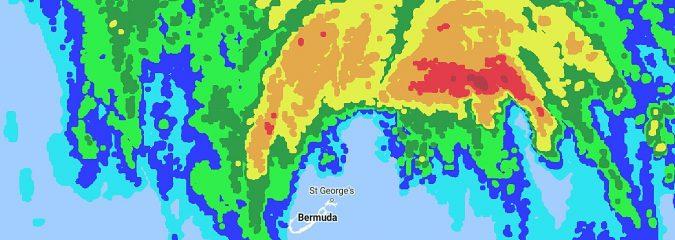 TWC: Hurricane Nicole Strikes Bermuda at Category 3 Strength; One of Bermuda's Most Intense Hurricane Strikes