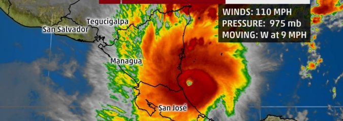 Hurricane Otto Crossing Central America; Life-Threatening Flash Flooding and Mudslides Possible in Nicaragua and Costa Rica