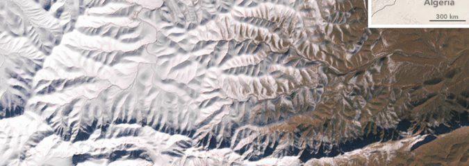 NASA: Rare Snow in the African Desert