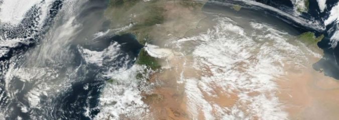 TWC: Saharan Dust Turns Spain's Ski Slopes a Dirty White