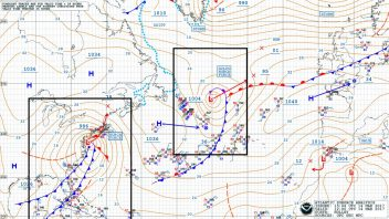 US Blizzard NOT UK-bound But Turning Colder With Moisture Plume Extending Back To Caribbean