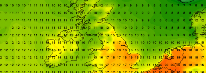 East Anglia/Southeast Eyes First 21C Thursday
