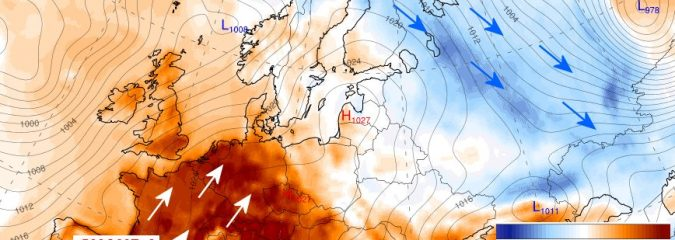Stormy Atlantic Drives Record Warmth Across Europe To End March 2017