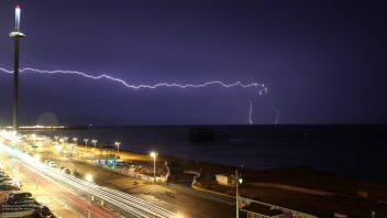 A 'Wales size' Mesoscale Convective System brings wild night to northern France, SE England