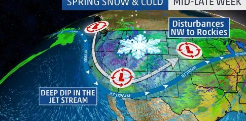 Record threatening snowstorm for Denver while record challenging heat for East Coast