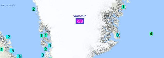 N Hemisphere may have set a new July cold record in Greenland this week