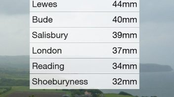 Southern England gets first July soaking while Grenada, Spain hit's 45.5C!