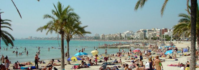Palma de Mallorca hits rare and record 40.1C