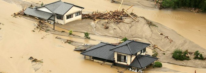 Unprecidented, historic rainfall swamps Japan