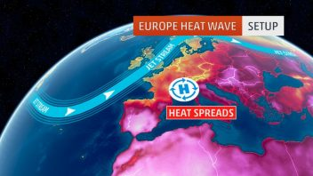 Europe's heatwave known as 'Lucifer' continues to strain with freezing level way up at 17,000ft