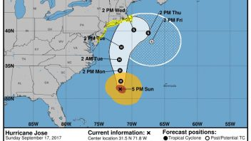 Hurricane Jose to weaken offshore but still bring wind, rain, surf to US East Coast