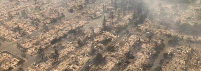 Tubbs Firestorm wipes out over 2,000 Santa Rosa, CA homes/businesses in 36 hours!