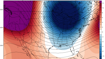 Minneapolis drops from record 57 to 16F with 2″ snow within 15 hrs, CFSv2 weeklies firm up on cold December