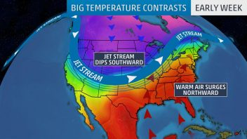 US Contrasts: Winter v Summer… 0s for Montana, Wyoming, 70s for Ohio, New England