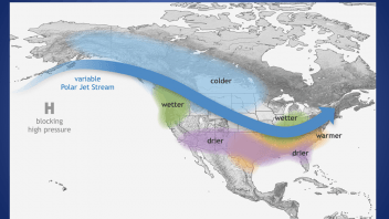 La Nina, MJO drives late winter US pattern