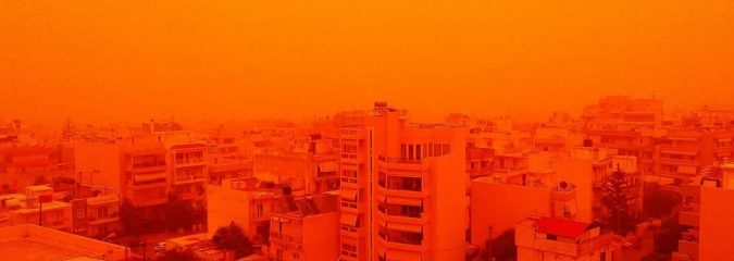Saharan Dust Smoothers Med Islands Incl Crete, Cyprus All The Way To Russia