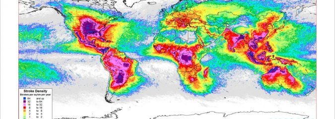 Mapping Earth's 9 Billion Lightning Strikes In The Last 5 Years