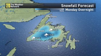 Gander, Newfoundland sees latest measurable snow along with record cold