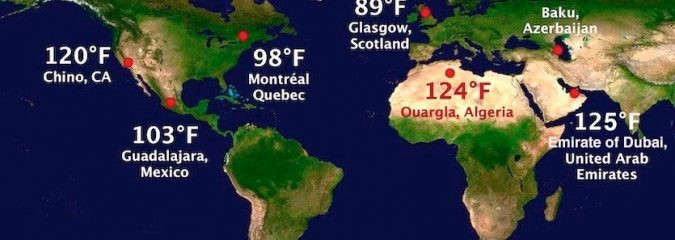 WU: Heat Records Falling Around the World in 2018