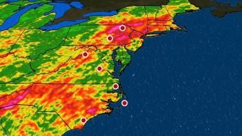 Western ridge + Ohio Valley trough + very warm water off NE = Record wet summer/year for East Coast!