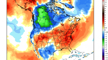 A September of contrasts, Summer remains for East US/Canada but Winter hits early for Western Canada