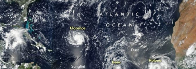 While Florence Heads For US, Helene May Be Headed For UK