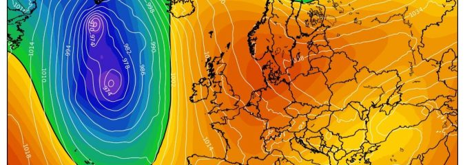 Weakening Atlantic westerlies shall allow Europe high to retrograde west… Less rain, staying mild for UK