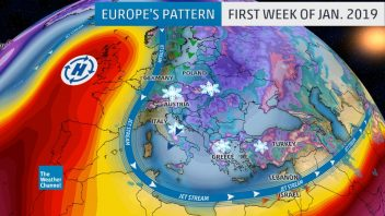 Wild start to 2019, Record 1045mb UK high vs 956mb Finland low, 19C Iceland, -23C Greece, 10ft of snow for Austria