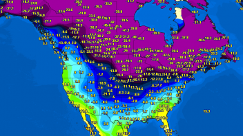 Air Temps approach -50C, Windchills -56C over parts of Saskatchewan, Quebec