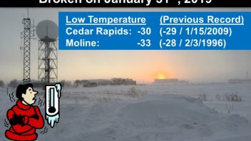 Moline, Ill, Coldest ever night is set in snowiest ever January