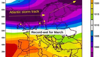 Northern Ireland gets wettest March in first 18 days of the month thanks to strong polar vortex, MJO