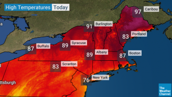 Approaching 100F In Maine, Quebec, New Brunswick While New York, Atlanta Has Yet To Hit 90F