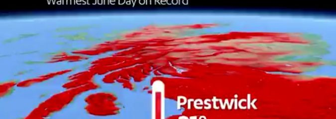 Prestwick, Ayrshire Hits Record 31C