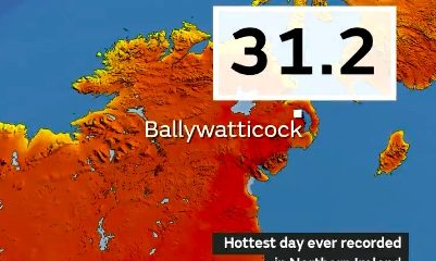 Northern Ireland (Provisionally) Set's New All-Time Heat Record