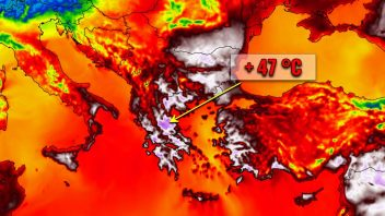 Greece, Turkey Swelter in 45-47C Heat While France Shivers One Of It's Chilliest August Opens